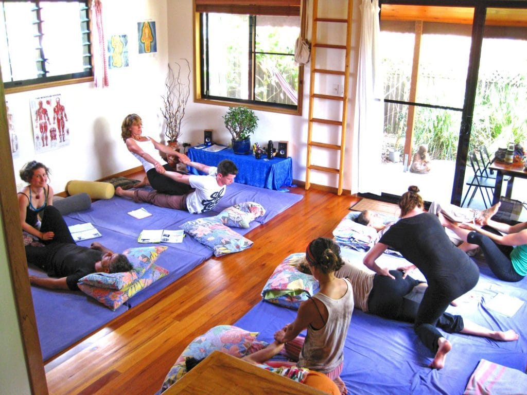 Assessment day for the graduates of the Thai Massage Practitioner Training Course in the beautiful Byron Bay studio.